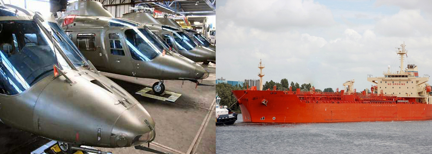 Helicopter and Ship