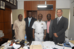 At the Defense Head Quarters in Abuja